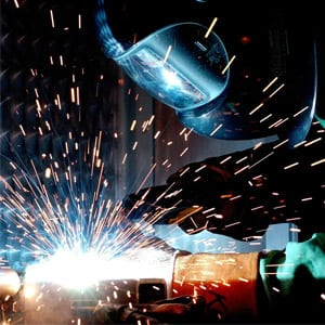 Welding Sparks and Fumes
