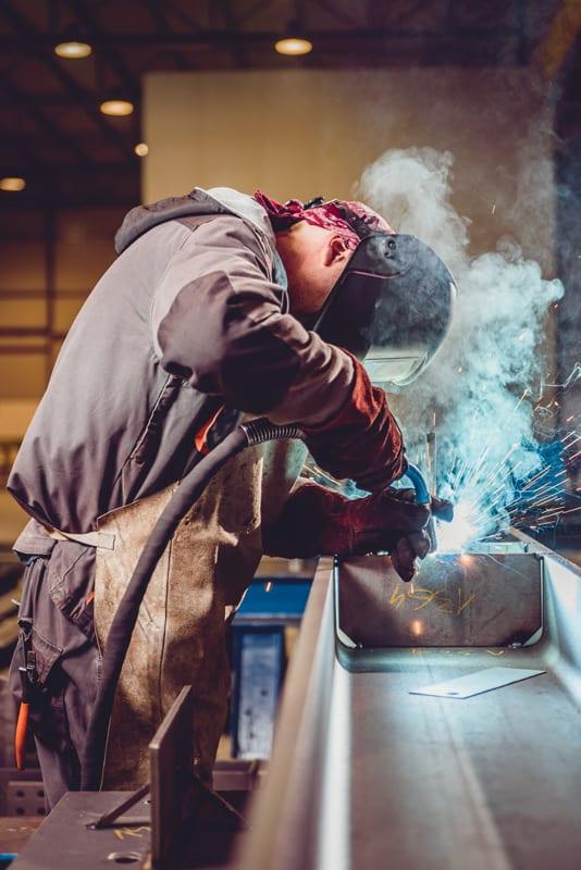 Welding Operator creating Fumes